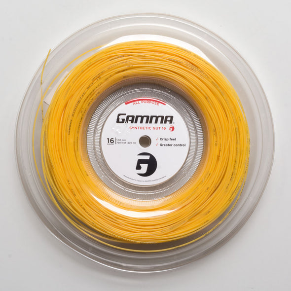 Gamma Synthetic Gut 16 Gold 720' Reel