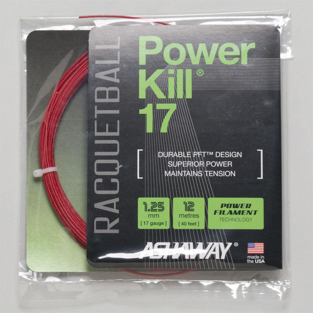 Ashaway Powerkill 17 Racquetball: Ashaway Racquetball String Packages