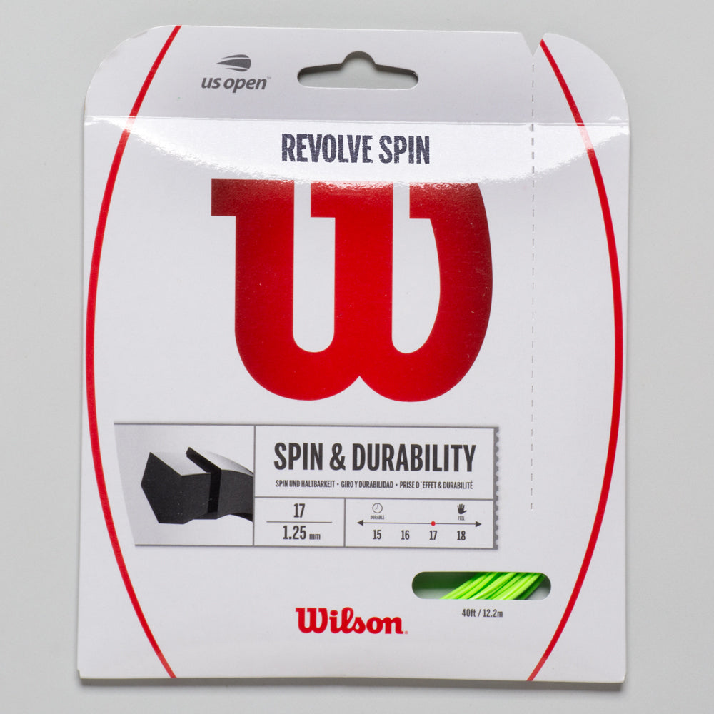 Wilson Revolve Spin 17 Tennis String Packages Green