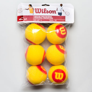 Wilson Starter Foam Ball 6 Pack