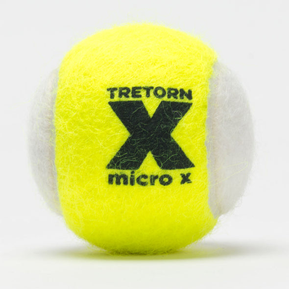 Tretorn Micro-X Pressureless Bag of 72 Yellow and White Tennis Balls