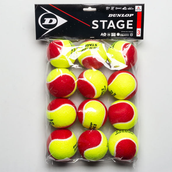 Dunlop Stage 3 Red 12 Pack