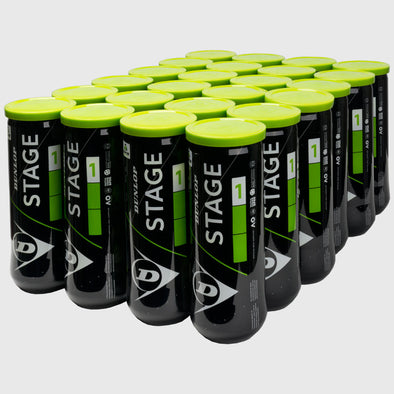 Dunlop Stage 1 Green Training Ball 24 Cans