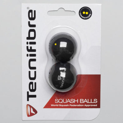 Tecnifibre Double Yellow Squash Balls 2 Pack