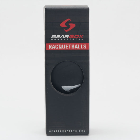 Gearbox Racquetballs 24 box Sleek Black