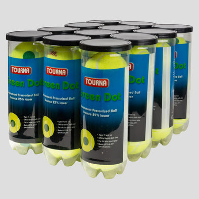 Tourna Pressurized Green Dot 12 Cans