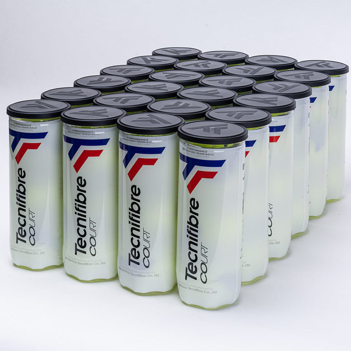 Free Shipping on Tecnifibre Tennis Court Balls 24 Cans