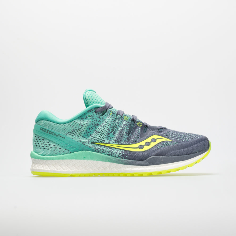 Saucony Freedom ISO 2 Women's Running Shoes Gray/Teal Size 9.5 Width B - Medium