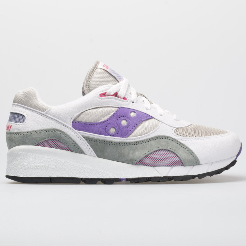 sports shoes a95ee 7b371 Saucony Shadow 6000 Men's White/Gray/Purple