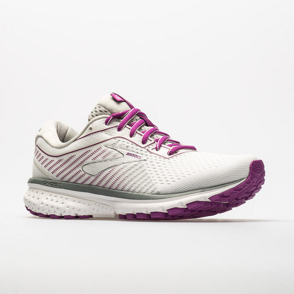 Brooks Ghost 12 Women's White/Gray/Hollyhock
