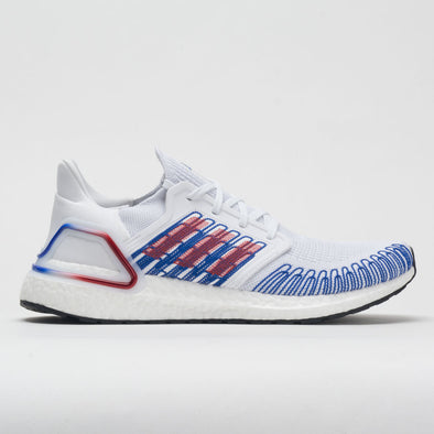 adidas Ultraboost 20 Men's White/Scarlet/Team Royal Blue