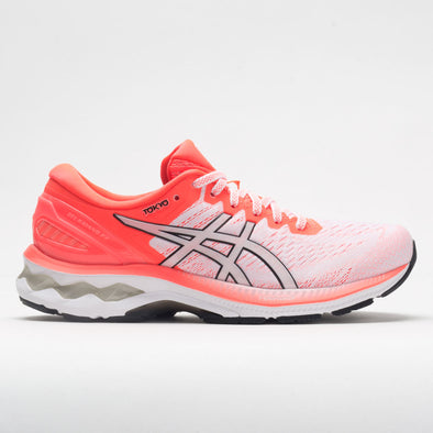 ASICS GEL-Kayano 27 Women's White/Sunrise Red