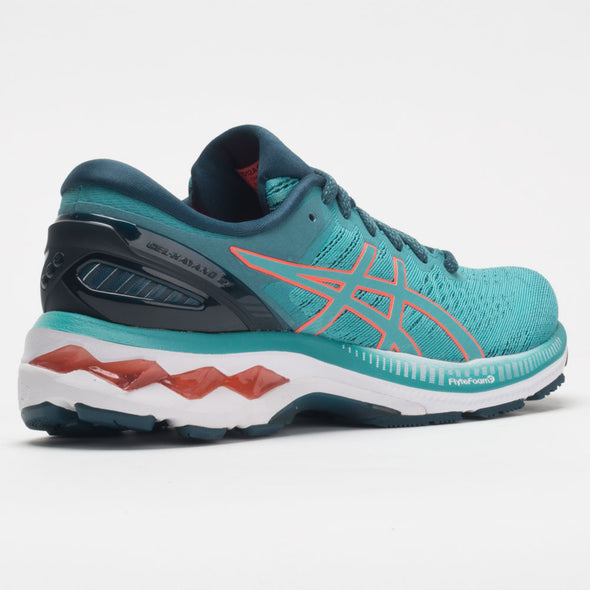 ASICS GEL-Kayano 27 Women's Tecnho Cyan/Sunrise Red