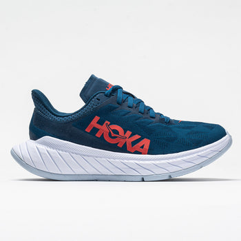 Hoka One One Carbon X 2 Women's Moroccan Blue/Hot Coral (Item #046034)