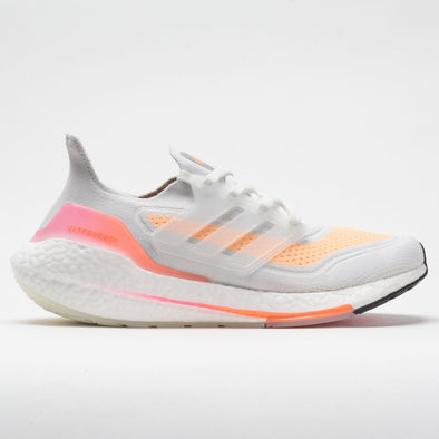 adidas Ultraboost 21 Women's Crystal White/Silver Metallic/Acid Orange
