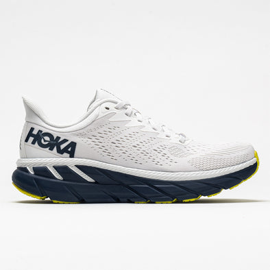 Hoka One One Clifton 7 Men's Blanc de Blanc/Black Iris