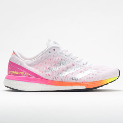 adidas adizero Boston 9 Women's White/Dash Grey/Screaming Pink