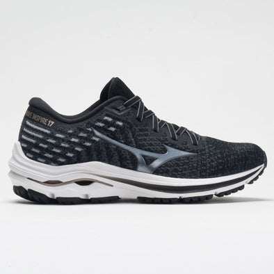 Mizuno Wave Inspire 17 Waveknit Women's Black/Platinum Gold