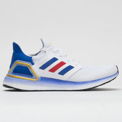 adidas Ultraboost 20 Men's White/Team Royal Blue/Scarlet