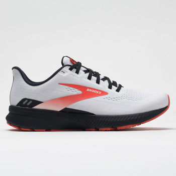 Brooks Launch 8 Men's White/Black/Red Clay (Item #046359)