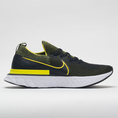 Nike React Infinity Run Flyknit Men's Black/Sonic Yellow