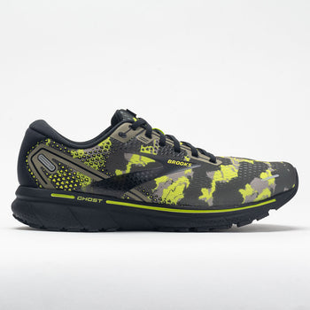Brooks Ghost 14 Men's Camo Collection Olive/Lime Punch/Black (Item #047338)