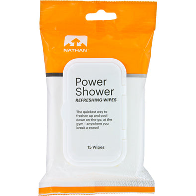 Nathan Power Shower Body Wipes 15 Pack
