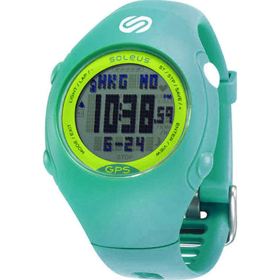 Soleus Mini GPS Teal/Lime