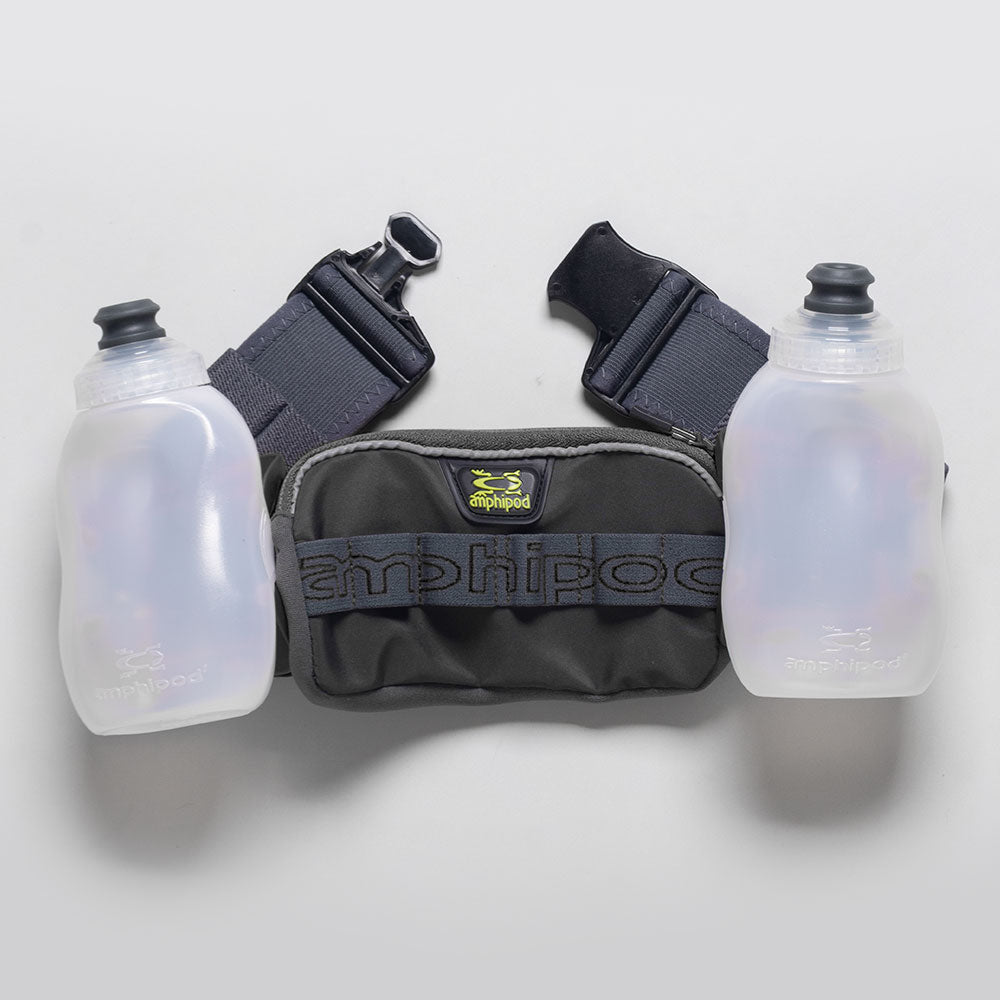 Amphipod RunLite Xtech 2 Plus Hydration Belt Hydration Belts & Water Bottles Charcoal/Steel