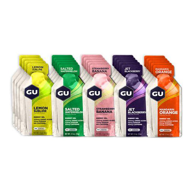 GU Energy Gel Fruity Flavors Mixed 24 Pack