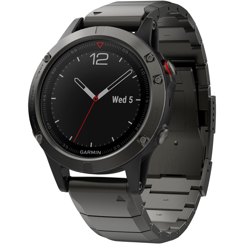 Garmin fenix 5 Sapphire Slate Gray with Metal Band GPS Watch: Garmin GPS Watches