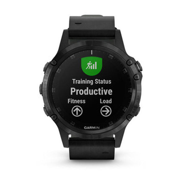 Garmin fenix 5 Plus Sapphire Black/Black Leather GPS Watch