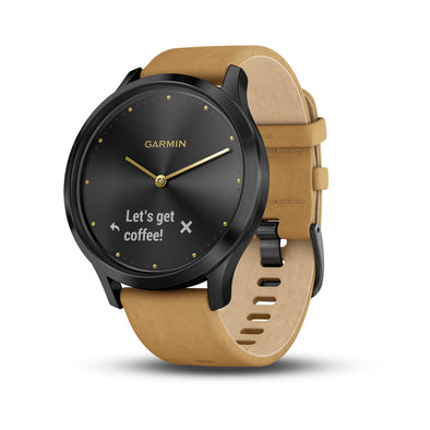 Garmin vivomove HR Premium Onyx Black/Tan Suede