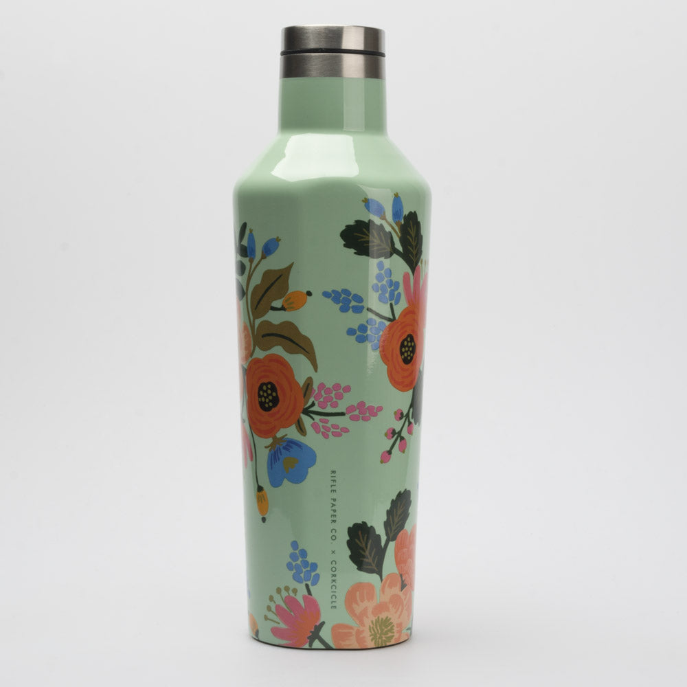 Corkcicle 16oz Canteen Rifle Paper Co. Collection: Corkcicle Hydration Belts & Water Bottles