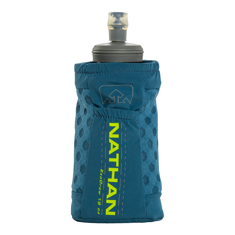 Nathan ExoDraw 2.0 Handheld Hydration Belts & Water Bottles Blue Mirage/Nuclear Yellow