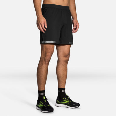 "Brooks Carbonite 7"" 2-in-1 Shorts Men's"