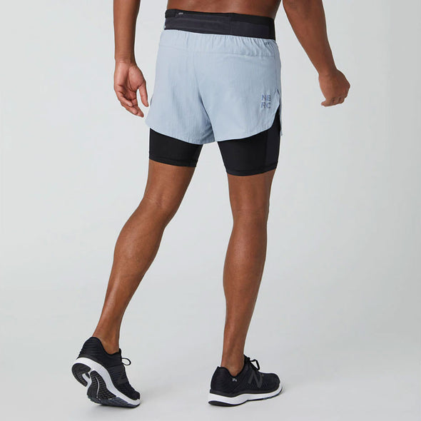 "New Balance Q Speed 5"" 2-in-1 Shorts Men's"