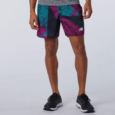 "New Balance Printed Velocity 7"" 2-in-1 Shorts Men's"