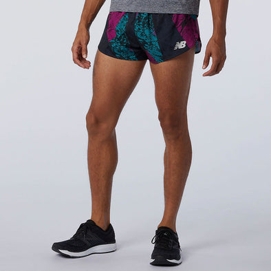 "New Balance Printed Velocity 3"" Split Shorts Men's"