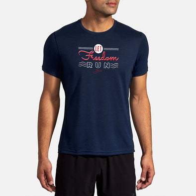 Brooks Go USA Distance Graphic Short Sleeve Men's