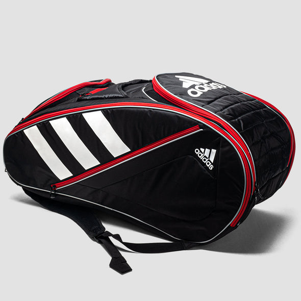 adidas Tour Tennis 12 Racquet Bag Black/White/Scarlet