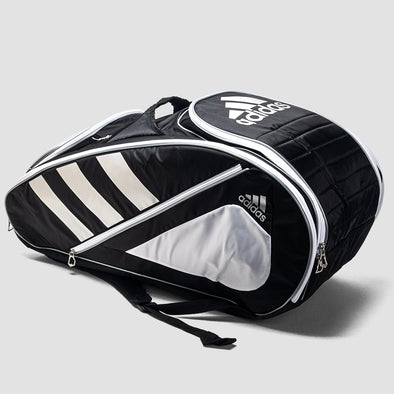 adidas Tour Tennis 12 Racquet Bag Black/White/Silver