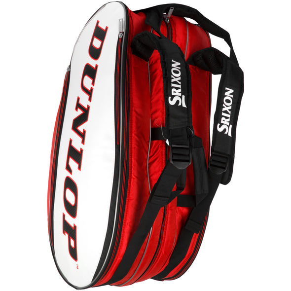 Dunlop Srixon 12 Racquet Bag Red//White/Black