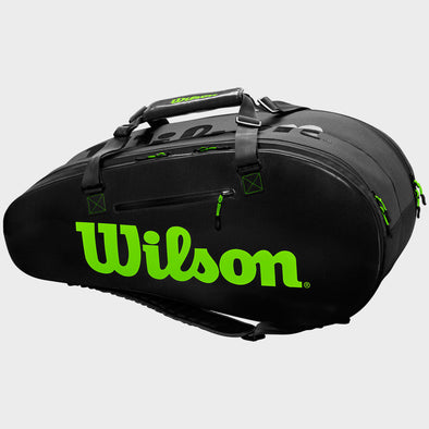 Wilson Super Tour 2 Compartment Large Black/Green