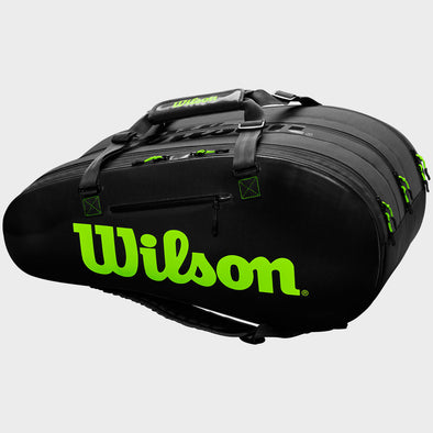 Wilson Super Tour 3 Compartment Black/Green