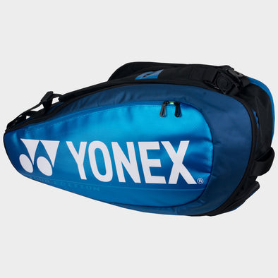 Yonex Pro 6 Pack Racquet Bag Black Blue
