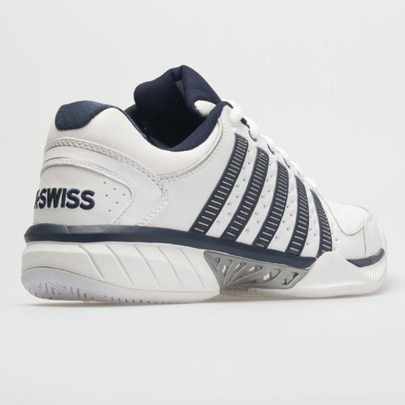 K-Swiss Hypercourt Express Leather Men's White/Navy/Silver