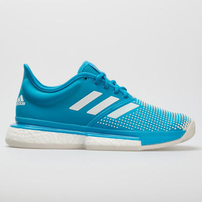 adidas SoleCourt Boost Clay Women's Shock Cyan/White
