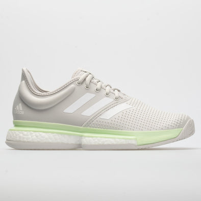 adidas SoleCourt Boost Women's Glow Green/White/Gray