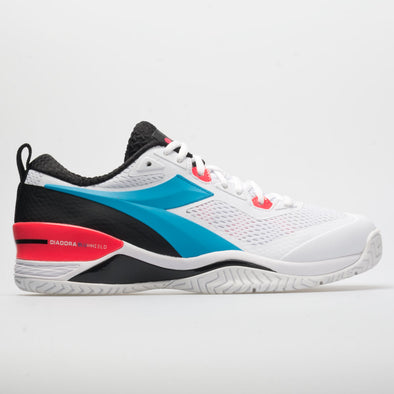 Diadora Speed Blushield 4 AG Men's White/Blue Fluo